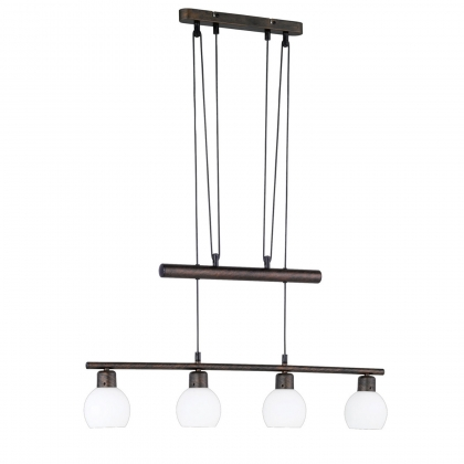 LAMPARA 4 LUCES BROWN LED